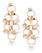 Maxi Brinco detalhes quadrado dourado