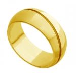 Aliança de Casamento e Noivado em ouro 18k acetinada com friso