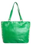 Bolsa feminina FiveBlu Tachas verde com adorno metalizado