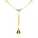 Terço em Ouro 18k Espírito Santo Diamantes e Nossa Senhora Aparecida Safira