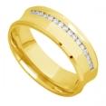 Aliança de Casamento de Ouro 18K Côncava