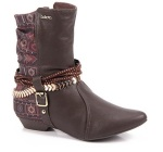Ankle Boots Feminina Estampa Tribal