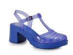 Sandália Salto Feminina Zaxy Azul