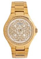 Relógio Feminino Mondaine Dourado com Strass