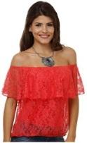 Blusa Feminina Ciganinha em Renda Vermelha