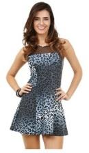 Vestido Feminino Viscose com Estampa Animal Print onça