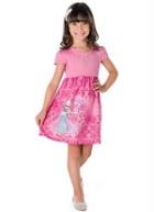 Vestido Infantil Frozen Disney Rosa