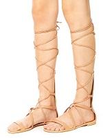 Rasteira Feminina Gladiadora Nude Zatz