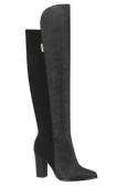 Bota feminina em camurça cano longo preta Beira Rio