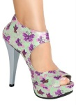 Calçado feminino Open Boot Floral Perfecta salto 12