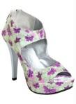 Sapato feminino Open Boot Floral Perfecta salto 12