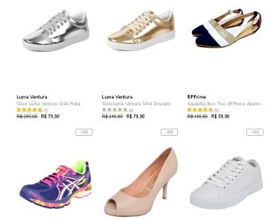 Promoção calçados Liquidação Dafiti com descontos promocionais